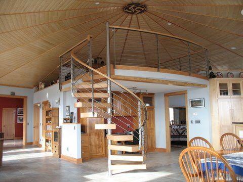 Superb Deltec Green Round House Interior