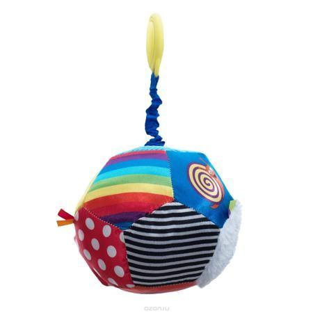 """WeeWise Подвесная игрушка для коляски и автокресла - Мяч """"Открытие""""  — 617р.  Игрушка крепится к козырьку –тенту прогулочной коляски или к ручке детского автокресла категории 0+. Поверхность мяча выполнена из материалов различного цвета и фактуры. Игрушка снабжена пружинным вибрирующим механизмом, способствует развитию зрительного, слухового и тактильного восприятия. Стимулирует хватательные навыки ребенка, помогает тренировке мелкой моторики рук."""