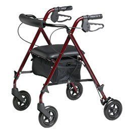 """Medline Freedom Rollator Rollator - Model 563476 by Sammons Preston. $99.00. This item may differ from the image shown. This item may be a replacement or optional part for the image shown,or differ in model,color, etc. Please review the title and features carefully.. Seat-13"""" x 13"""",  Bag-18"""" x 11"""" x 6"""".  Weight Capacity-250 lbs. This Listing Is For Medline Freedom Rollator Only.. Model No.:- 563476. Floor to seat height-18"""" to 23"""". Weighs only 10 lbs., yet has a weight cap..."""