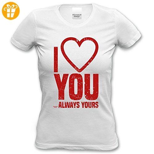 Tshirt Girlie Shirt 27. Geburtstag I love you als tolle Geschenkidee Farbe: weiss Gr: S (*Partner-Link)