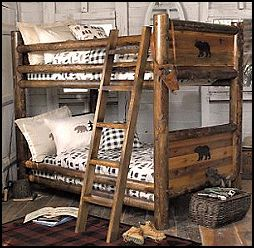 17 best ideas about rustic bunk beds on pinterest cabin for Log cabin style bunk beds