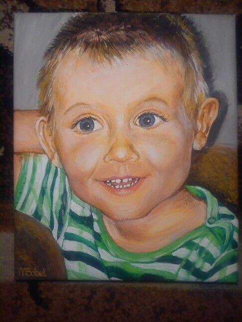 Boy portret, acrylic