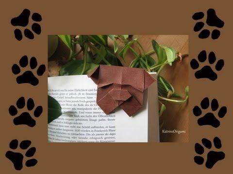 ▶ Origami ♦ Bulldog Bookmark ♦ - YouTube