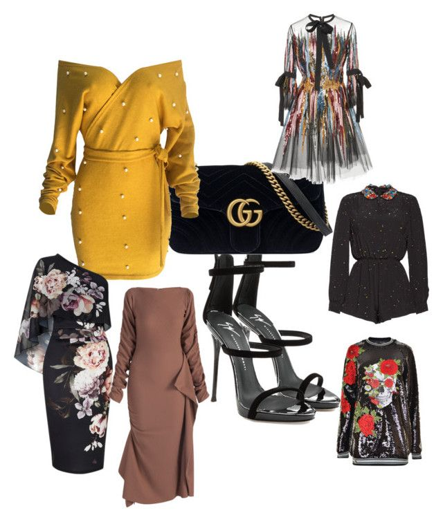 """""""Theodora Filip"""" by eeg396 on Polyvore featuring Giuseppe Zanotti, Gucci, WithChic, Lipsy, Elie Saab and Philipp Plein"""