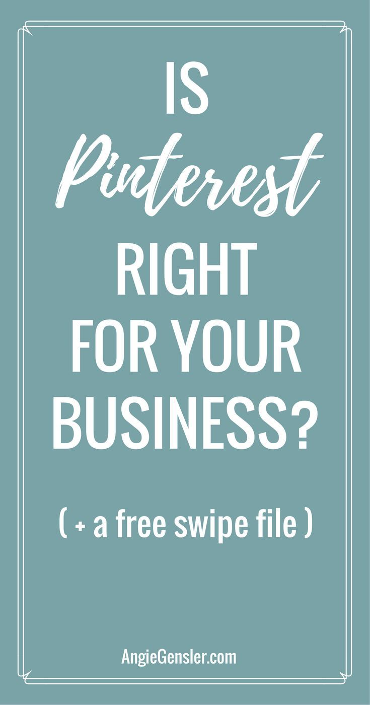 Is Pinterest right for your business? Here are 14 niches perfect for Pinterest and a free swipe file of 70 Pinterest accounts with an outstanding strategy you need to copy. via @angiegensler