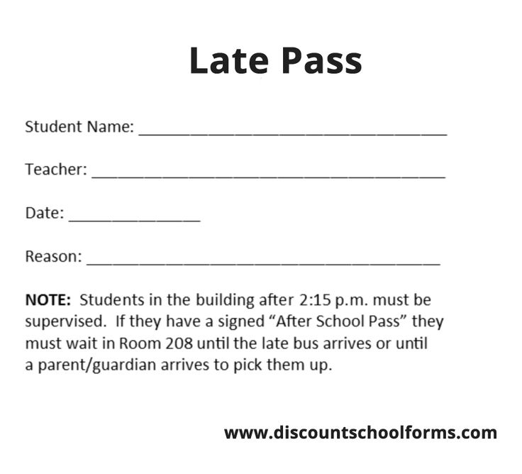 Quality Late Pass Printing For Professionals. 24 Hour Express Shipping · Always HD Quality. http://www.discountschoolforms.com/product/late-pass/