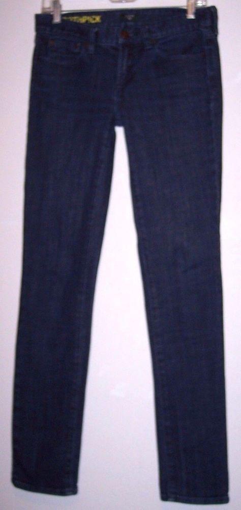 """J Crew Toothpick Jeans 27 Stretch Denim Women's Skinny Pants Waist 30"""" Inseam 31 #JCrew #skinnytoothpickstretch"""