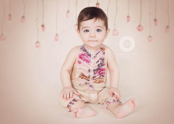Baby Girl Romper Newborn Photo Prop by LovelyBabyPhotoProps