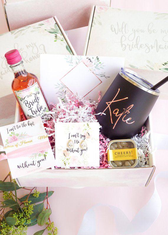 Brautjungfer Vorschlag, wirst du mein, personalisierte Brautjungfer Geschenk-Box-Set sein, fragen Sie Brautjungfer, Maid of H