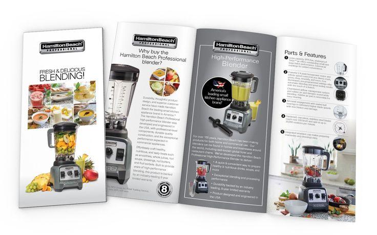 Product (Blender) Brochure Design for HAMILTON BEACH PROFESSIONAL (USA)