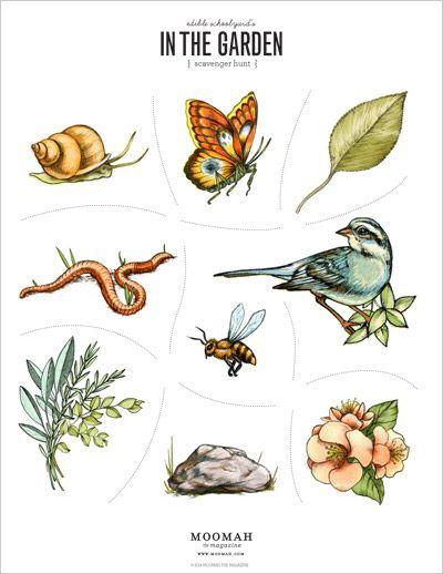 Printable In The Garden Scavenger Hunt   Moomah the Magazine