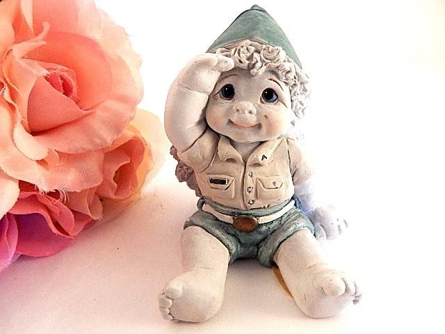 Soldier Boy Cherub Baby Angel Scout Figurine Vintage Dreamsicles Collectible Home Decor
