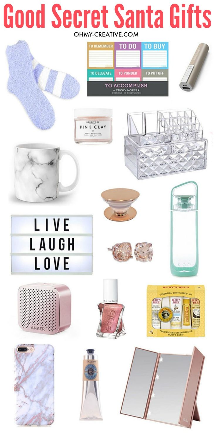Good Secret Santa Gifts | OHMY-CREATIVE.COM Best Secret Santa Gifts | Cheap Secret Santa Gifts | White Elephant Gifts | Office Gift Ideas | Gift Exchange Ideas