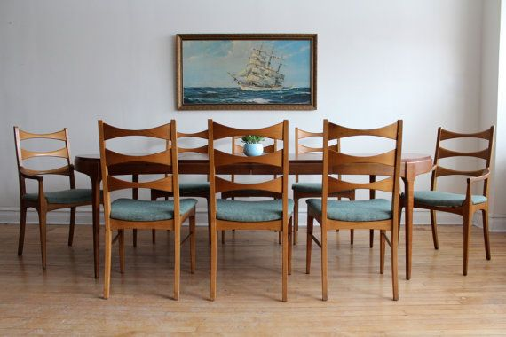 Mid Century Modern Dining Set By Lane By SharkGravy On Etsy 50 39 S 60 39