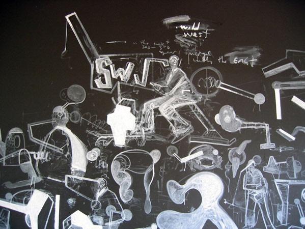 Headlands  M(b)Theory V11 (detail view). Wall Drawing