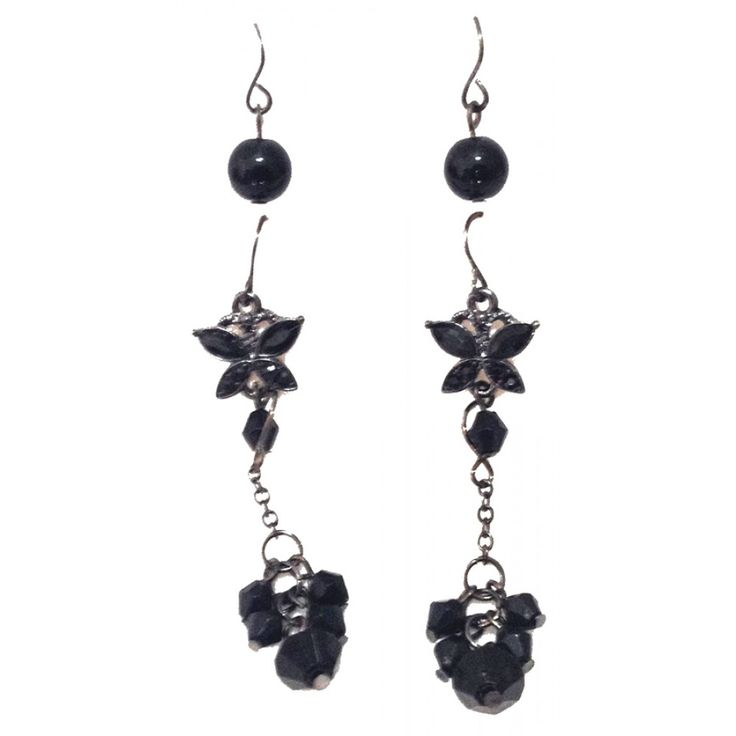 Black Earrings - 3 Pairs