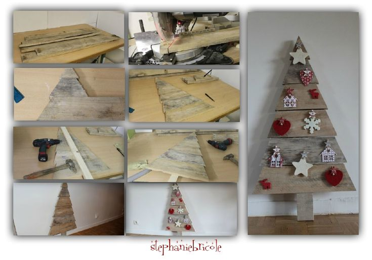 Diy faire un sapin en bois de palette diy and crafts and - Faire un sapin en bois ...