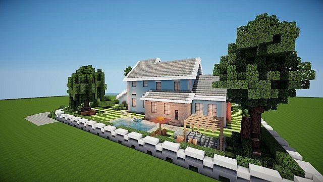 Suburban house project minecraft pinterest suburban for Suburban house blueprints