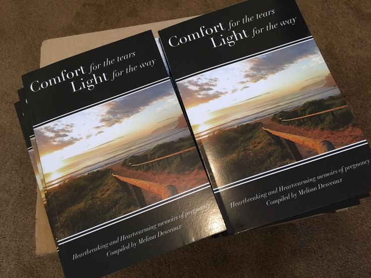 "My books arrived. ""Comfort for the tears, Light for the way"".  Mylifeofloss.com"