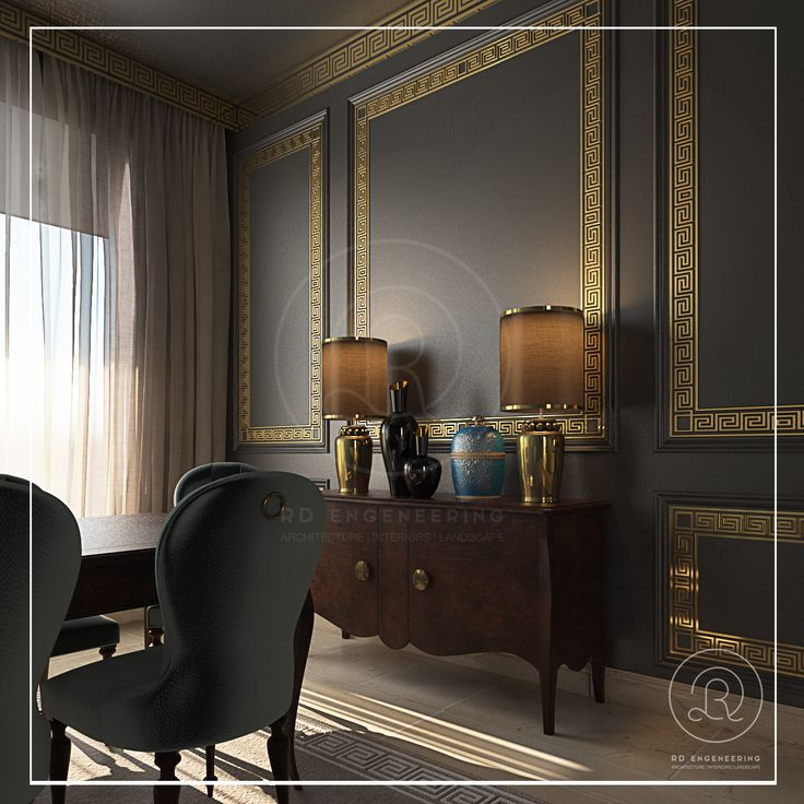 Black gold for new classic interior by rde qatar