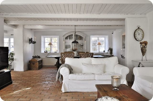 Roses and Rust: Raw beauty - brick floors