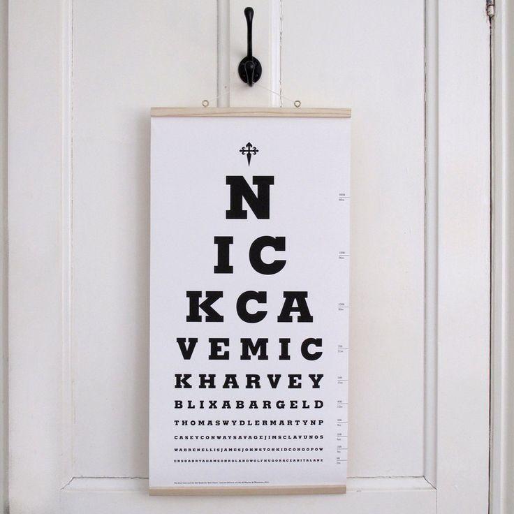 Der Nick Cave-Auge-Testform. Limited Edition von WastedAndWounded