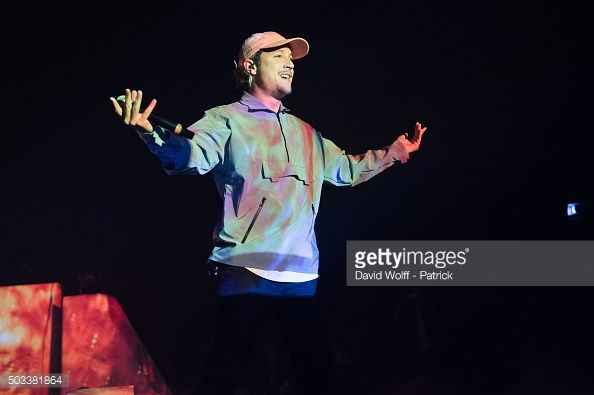 Nekfeu performs at L'Olympia on January 4 2016 in Paris France