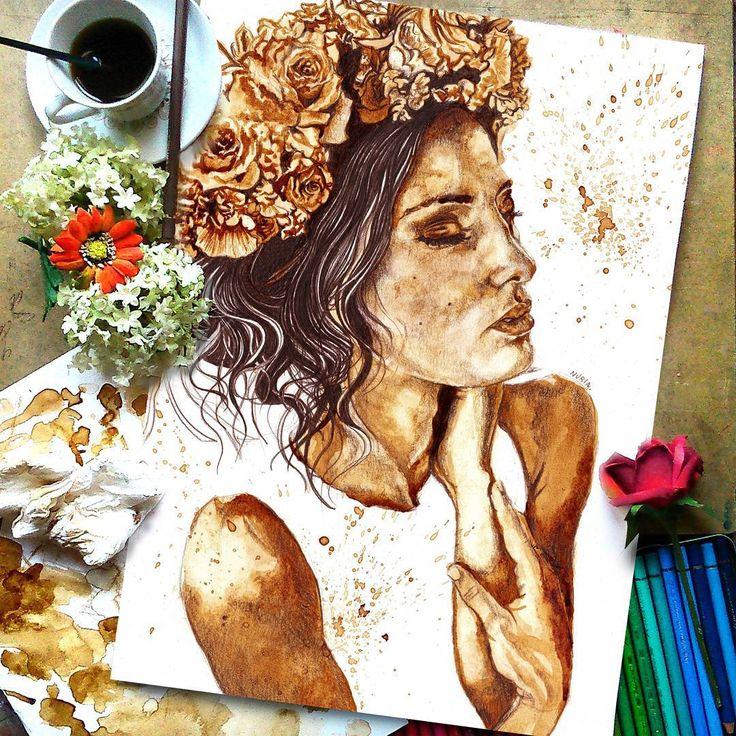 Sanatlı Bi Blog Kahvenin Harman Olduğu Muhteşem Portre Çalışmaları: 'Nuria Salcedo' 2