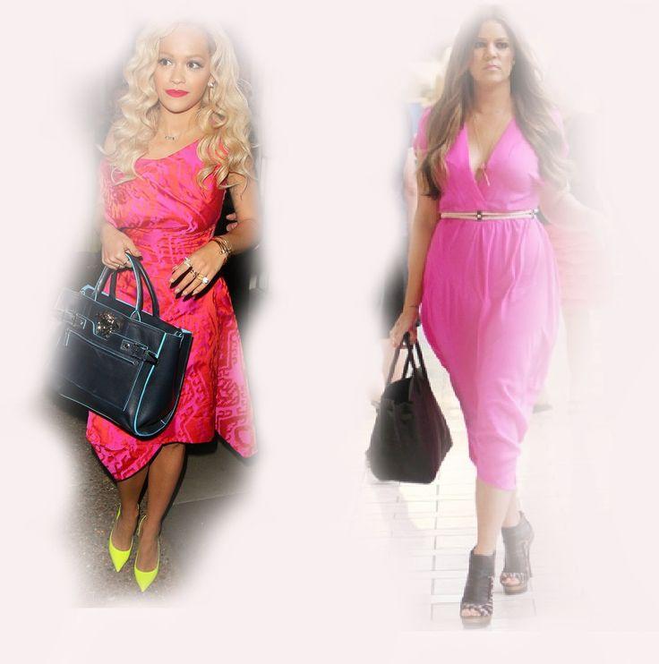 summer pink dress, Rita Ora VS Khloe Kardashian Odom fashion diva who-wore-it-better celeb celebrity