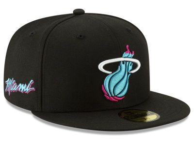 buy popular f5f61 c1920 Channel Miami Vice with the Miami Heat New Era NBA City Series 2.0 59FIFTY  Cap at LIDS today!