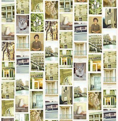 панно с зелеными открытками 365107 Eijffinger