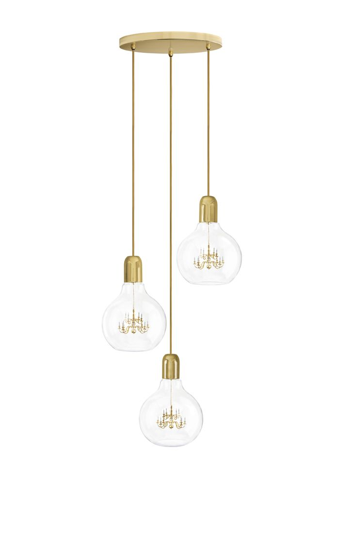 These Three Kings Arrive Bearing Gold. This Trio Of King Edison Pendants  Hang Together Harmoniously, Originating From A Singular Ceiling Rose. Pictures Gallery