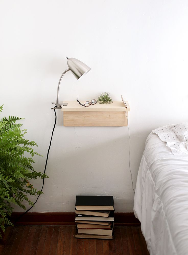 DIY Floating Nightstand @themerrythought