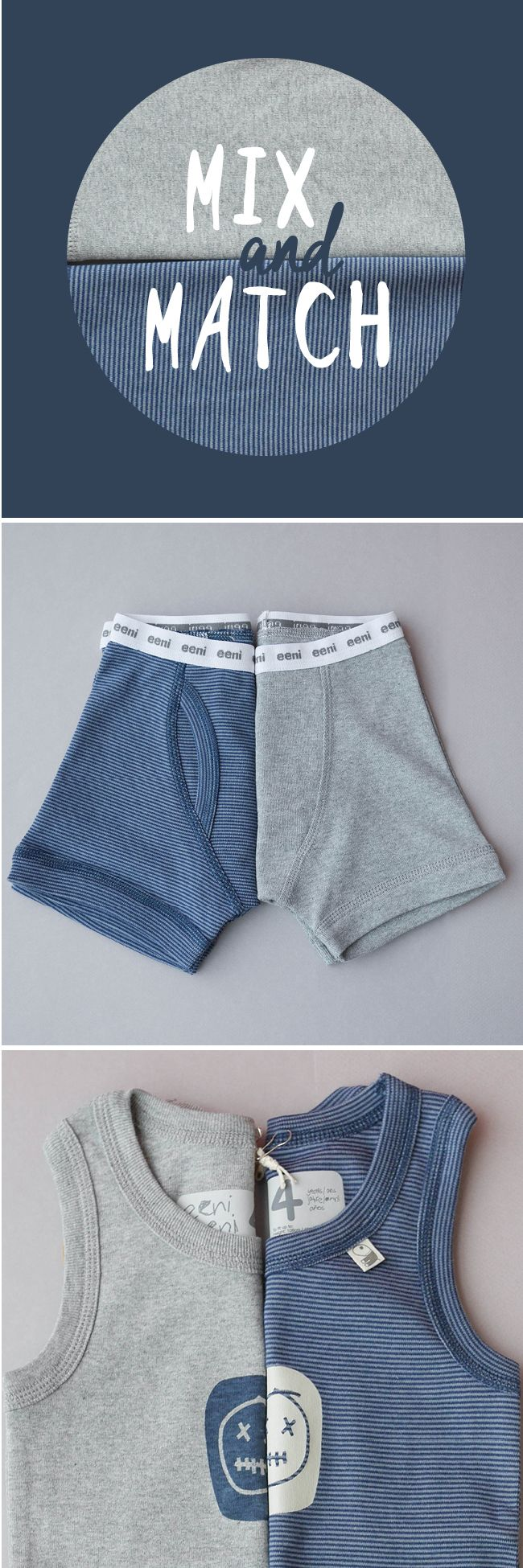 Mix and match boys underwear, these comfy 100% cotton co-ordinates are one of our best sellers - have you tried them? Buy 3 or more and save with our special website offer