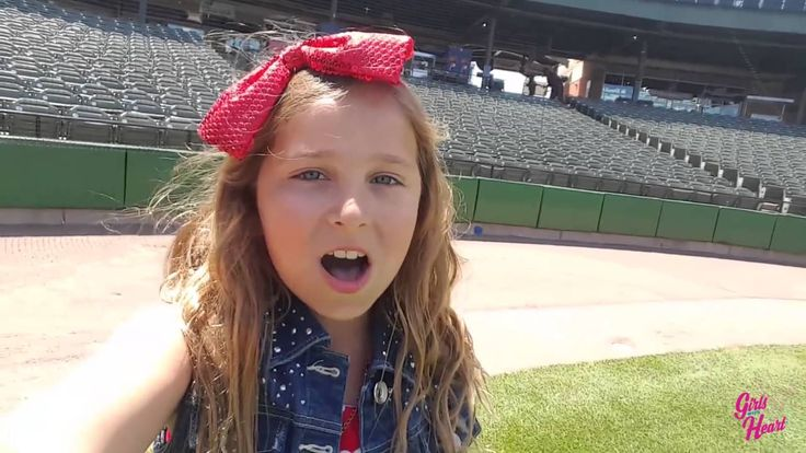 Girl with Heart Olivia Tours Ballparks with Her Rendition of the Nationa...