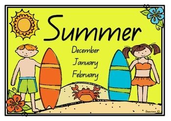 Seasons Postersx4 with months of the year.x4 without months of the year.A great addition to your classroom walls :)