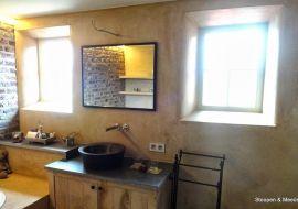 StucDeco wordt veel toegepast in badkamers, het product is zeer geschikt voor natte ruimtes.