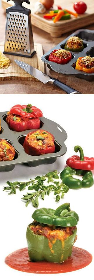 2 in 1 Nonstick Vegetable  Baking Pan // Great For Peppers, Tomatoes, Potatoes, Monkey Bread, Mini Cakes, Muffins  More