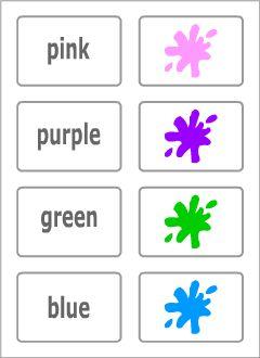 Colours vocabulary