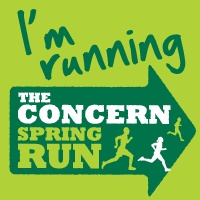 Tell your friends you're running the Concern Spring Run for kids in Haiti by making this your profile pic!
