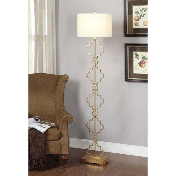 Gold Leaf Moroccan Floor Lamp - Overstock™ Shopping - Great Deals on Floor Lamps