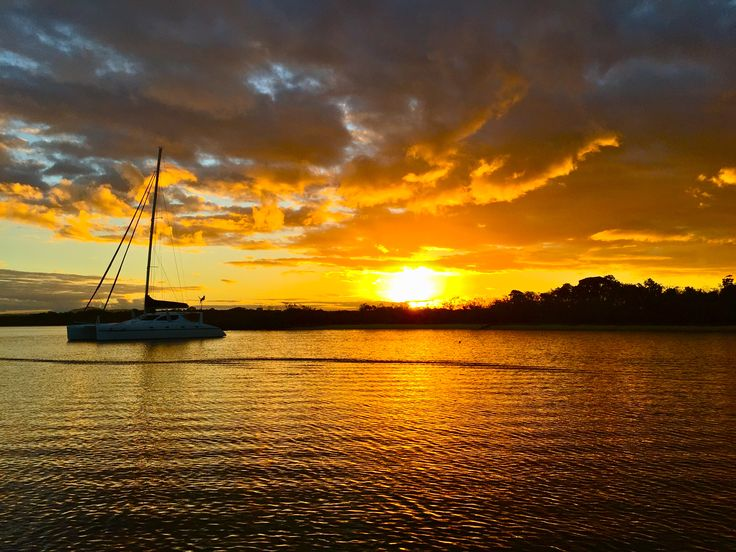 Sunset over woods bay Noosa River- Tues 23rd June 2015