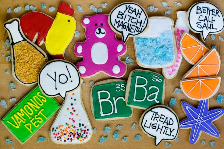 Breaking Bad Cookies.  Need to make these for the finale next Sunday.