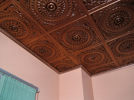 giving your kitchen cozier look with antique copper tin look ceiling tiles curbly