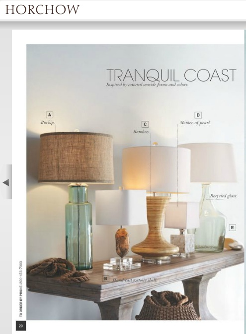 Beachy Lamps   Horchow