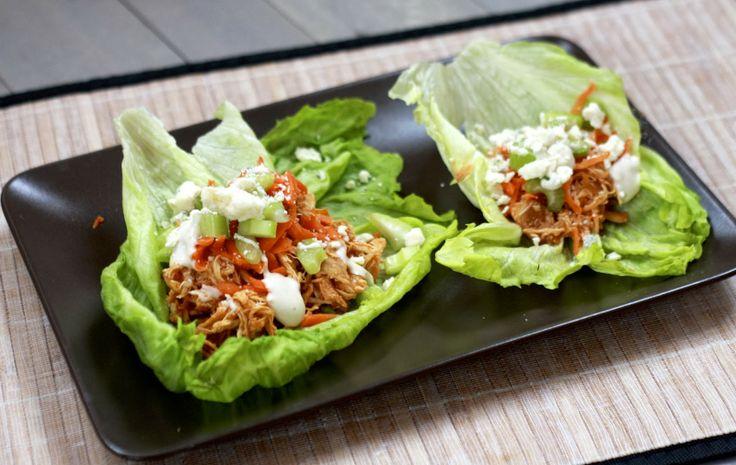 ... Buffalo, Dinner Ideas, Slow Cooker, Chicken Lettuce Wraps, Buffalo
