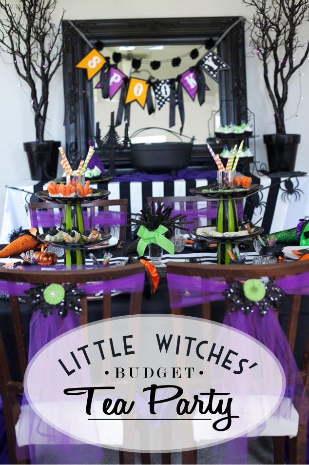 Sweet Little Witches Tea Party on a Budget by my fab friend @frogprincepaper love this and all the adorable little details and personal touches!