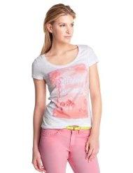 edc by ESPRIT Damen T-Shirt, 042CC1K038