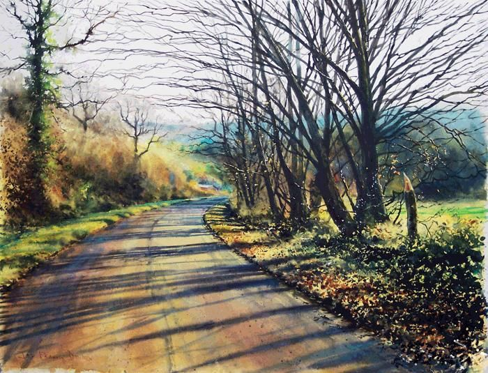 Landscape Watercolor Paintings by UK Artist Joe Francis Dowden.