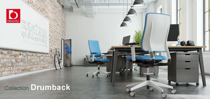 DRUMBACK уникально сочетает в себе преимущества прохладного комфорта сетки (воздушная прослойка) и закрытой части спинки из полипропилена, что создает свежий и современный вид.